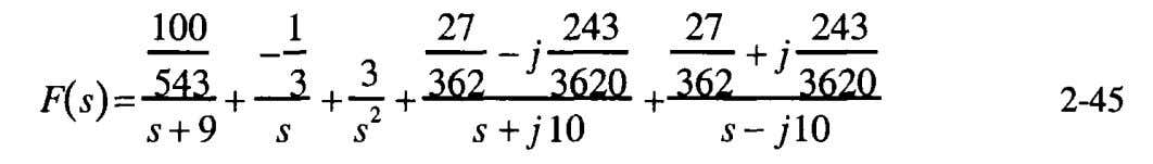 th e partial fraction expansion equation, Equation 2-39, Because Equation 2-45 is composed completely of simple