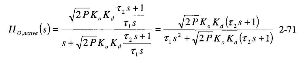 yields a second order, type 2 loop, into Equation 2-48 Again, we rewrite the transfer function