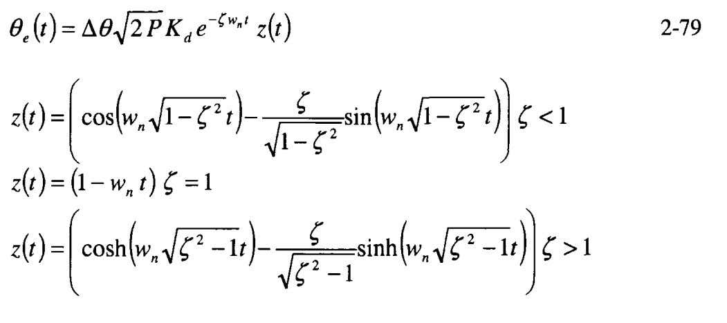 tables of Appendix A, yields using Equation 2-22, or the These results are not too difficult