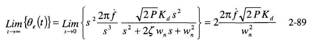 is obtained from the Final Value Theorem and Equation 2-75, This is a limitation of the