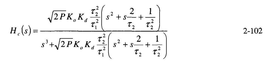 PLL equation of 2-48 yields Substituting Equation 2-101 into Selection of and for a specific design