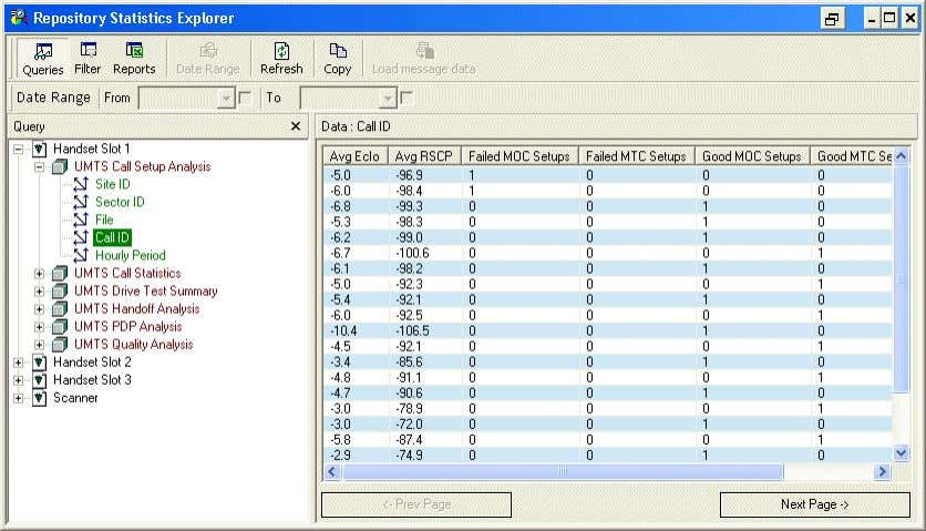 Actix Analyzer Getting Started Guide May 2015 Examining loaded data 53 Beneath each device in the