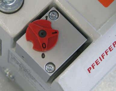 red cap fr om the air outlet. 3.3.4.2 Gas ballast valve Fig. 3.9 Closed gas ballast