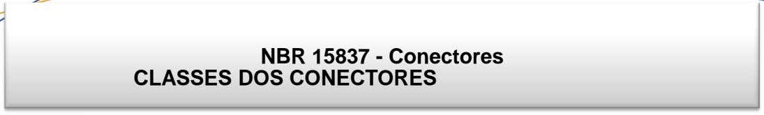 NBR 15837 - Conectores CLASSES DOS CONECTORES