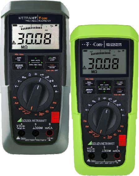 | T-COM The compact isolation multimeter and cable tester • Multifunctional Digital Multimeter with TRMS Voltage