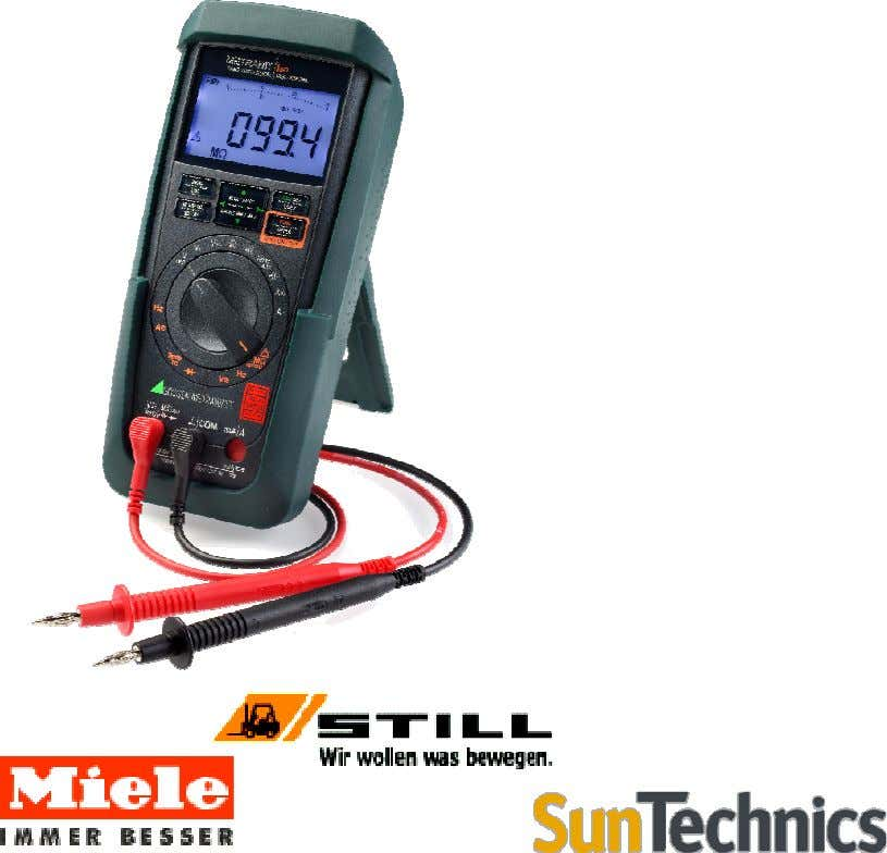 METRAHIT | ISO The compact insolation tester and multimeter Multifunctional digital multimeter with TRMS Voltage V