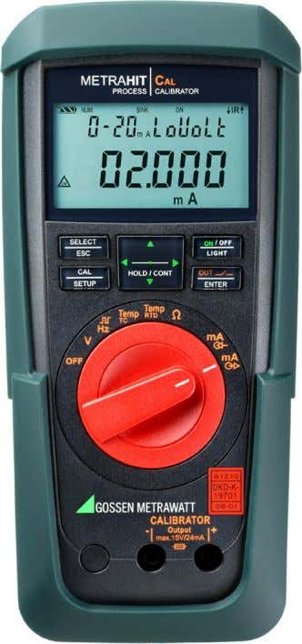 Multimeter TT Process-Calibrator METRA HIT | CAL • Comfortabel operating by the rotary switch, direct access