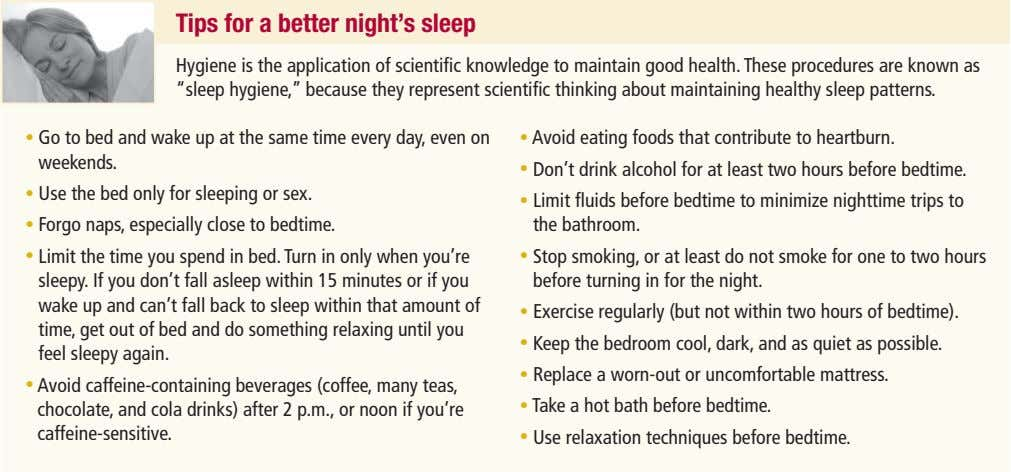 tips for a better night's sleep Hygiene is the application of scientific knowledge to maintain