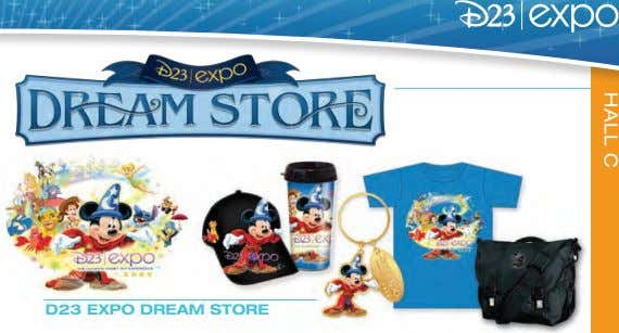 HALL C D23 EXPO DREAM STORE