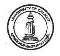 V SEMESTER CORE COURSE BA POLITICAL SCIENCE (2011 Admission) UNIVERSITY OF CALICUT SCHOOL OF DISTANCE EDUCATION