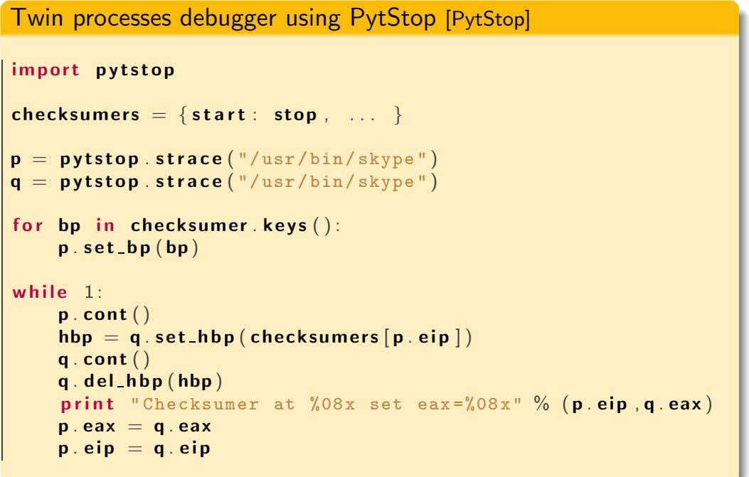 Twin processes debugger using PytStop [PytStop] im p o r t p y t s