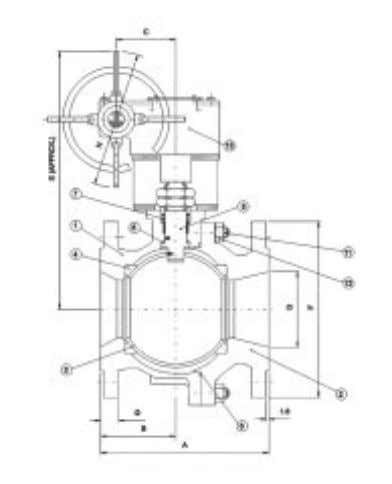 Valves complement the single-piece design in 250mm size. AF52 (Class 300) Dimensional Details Flanged end (in
