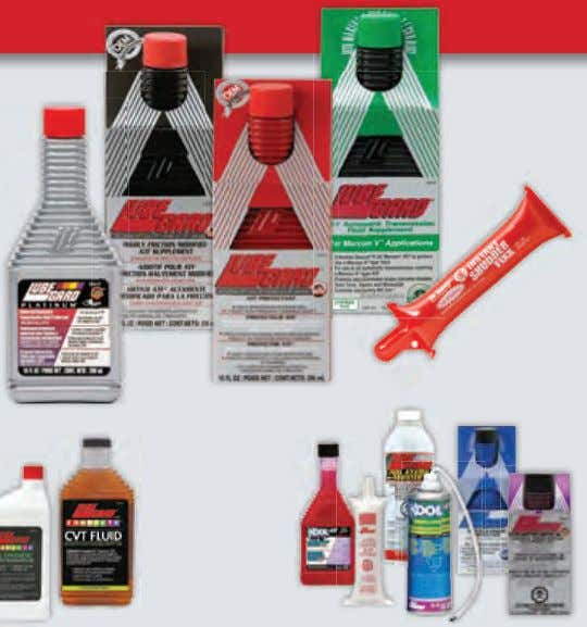 Problem solvers automatIc transmIssIon fluId Protectants and suPPlements luBeGaRd products have been helping technicians