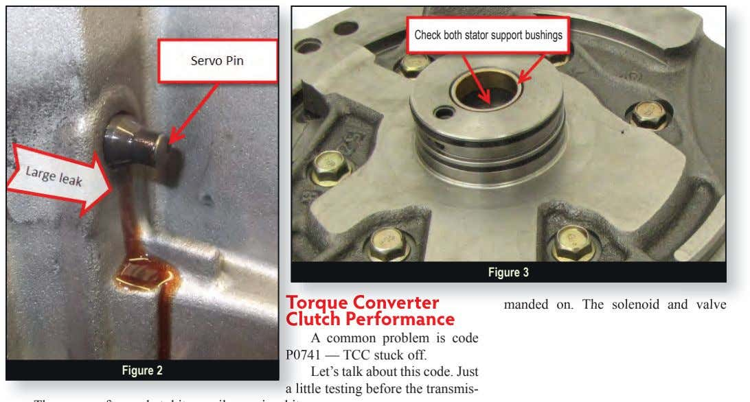 Check both stator support bushings Figure 3 Torque Converter To r ue Converter manded on.