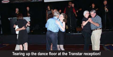 Tearing up the dance floor at the Transtar reception!