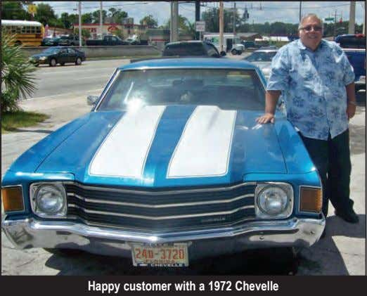 Happy customer with a 1972 Chevelle