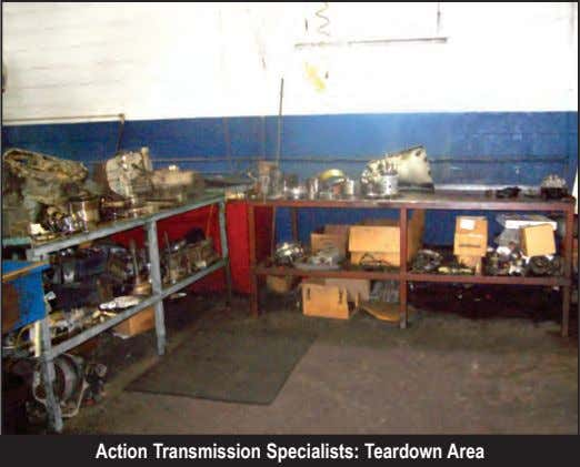 Action Transmission Specialists: Teardown Area