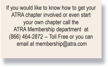 If you would like to know how to get your ATRA chapter involved or even