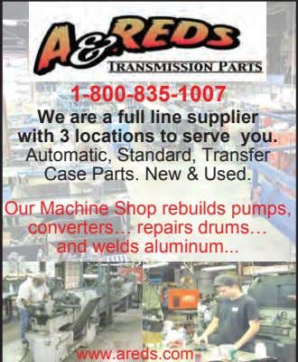 1-800-835-1007 We are a full line supplier with 3 locations to serve you. Automatic, Standard,
