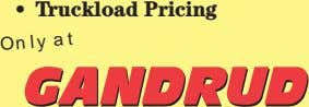 • Truckload Pricing Only at