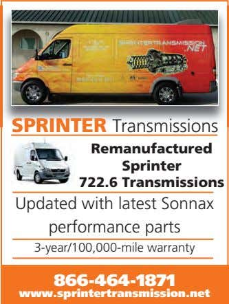 SPRINTER Transmissions Remanufactured Sprinter 722.6 Transmissions Updated with latest Sonnax performance parts