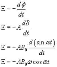 Here ω = 50 π , B 0 = 0.2, A =area 2.5 × 10 -