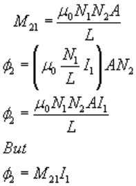 is φ 2 = B 1 AN 2 – eq(2) Substituting for B 1 from equation