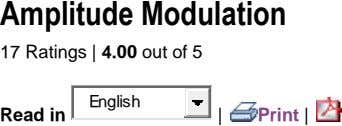 Amplitude Modulation 17 Ratings | 4.00 out of 5 English Read in | Print |