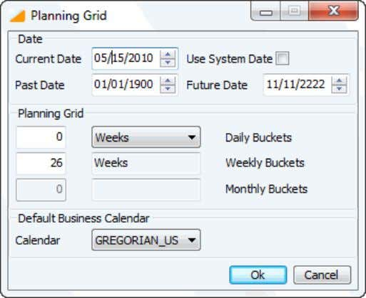 online thus, there is no need to restart the system. Figure 4: Planning Grid dialog box