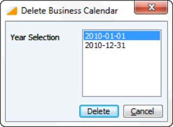 can be used to delete the obsolete Business Calendar years. Figure 7: Delete Business Calendar Before