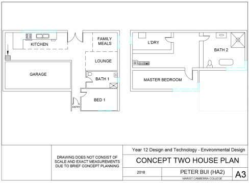 the change. This was drawn using the software AutoCAD 2016. The Original House Plan The Updated