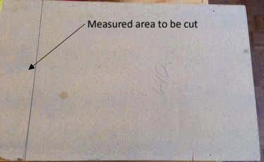 Measured area to be cut