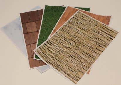(16653) MATERIALS USED FOAMCORE BOSTIK PVA GLUE WOODEN BASE (ASH WOOD) SEWING PINS PRINTED TEXTURE SHEETS