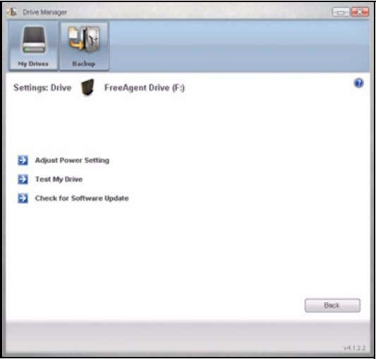 FreeAgent for Windows Figure 5: Settings Step 2: Click Test My Drive . The Test My