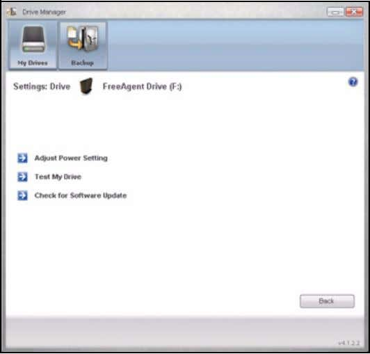 FreeAgent for Windows Figure 8: Settings Step 2: Click Check for Software Update . The Software