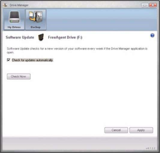 FreeAgent for Windows Figure 9: Software Update Software Update is turned on by default. Step 3: