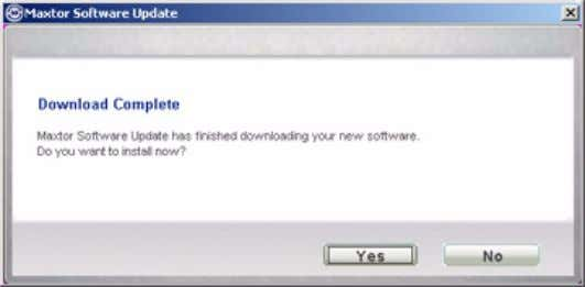 you're asked if you want to install the update now. Figure 12: Software Update Progress Step