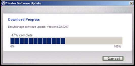 FreeAgent for Windows Figure 11: Software Update Progress When the software update has downloaded, you're asked
