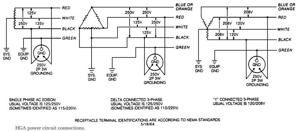 HGA power circuit connections.