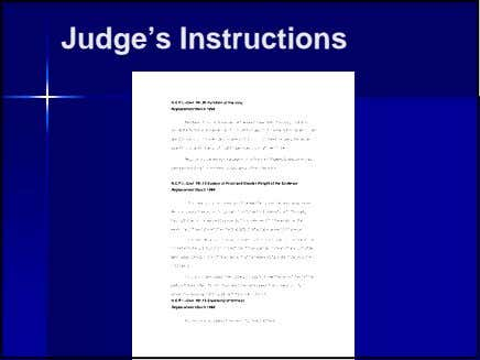 Judge's Instructions