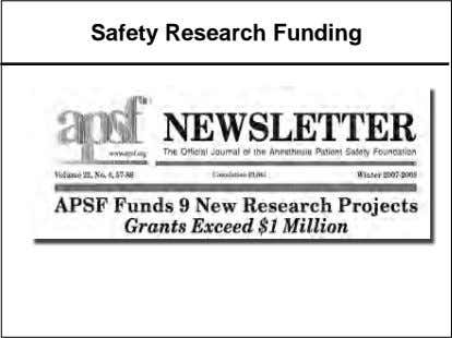 Safety Research Funding