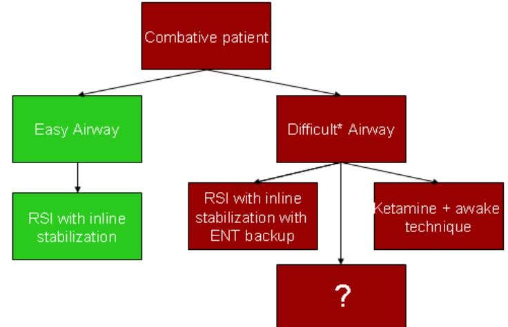 "If the airway appears ""easy"" (and that's certainly open to interpretation), then I proceed with"
