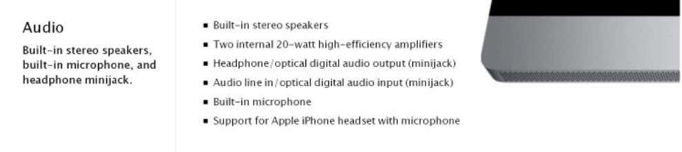available at http://www.apple.com/imac/specs.html : MacBook Air technical specifications available at