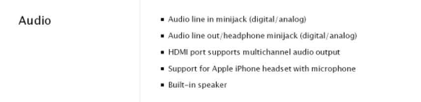 available at http://www.apple.com/macmini/specs.html : Mac Pro technical specifications available at