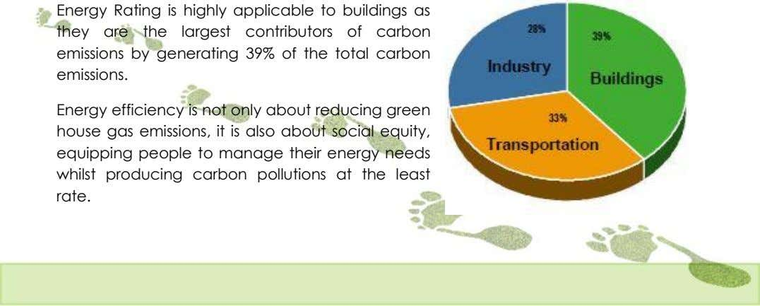 Energy Rating is highly applicable to buildings as they are the largest contributors of carbon