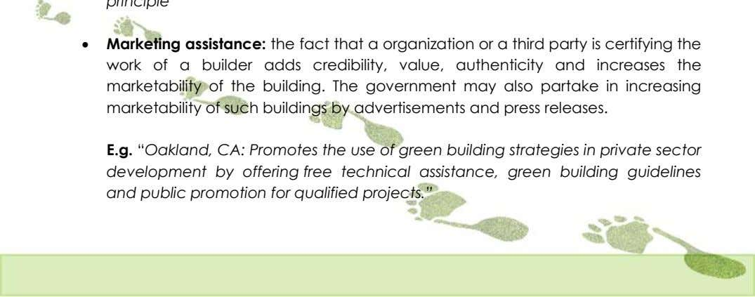  Marketing assistance: the fact that a organization or a third party is certifying the