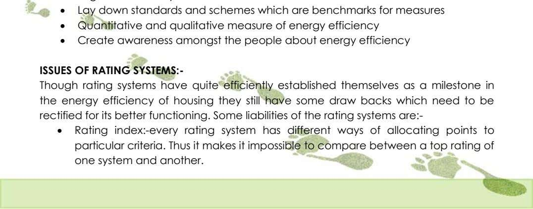  Lay down standards and schemes which are benchmarks for measures  Quantitative and qualitative