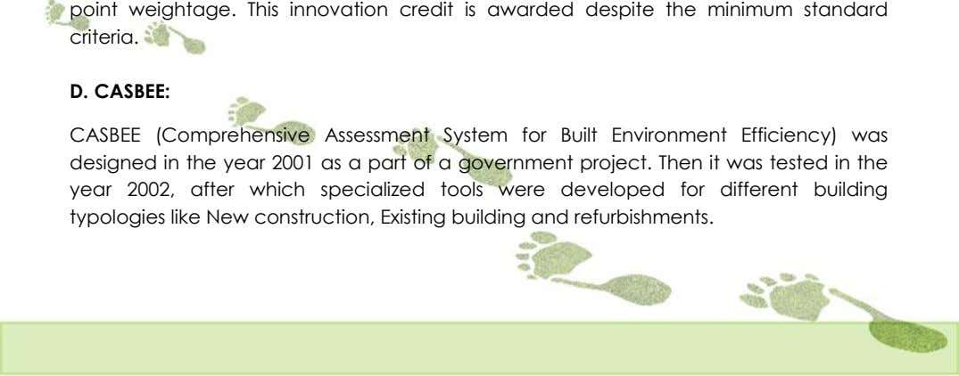 D. CASBEE: CASBEE (Comprehensive Assessment System for Built Environment Efficiency) was designed in the year