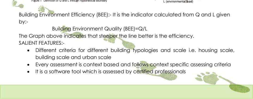 Building Environment Efficiency (BEE):- It is the indicator calculated from Q and L given by:-