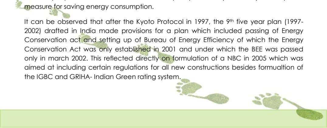 It can be observed that after the Kyoto Protocol in 1997, the 9 th five
